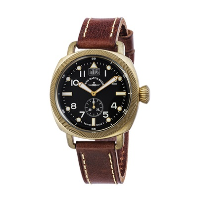 ZENO-WATCH(ゼノウォッチ) Quartz Bronze Cushion 201-2-BK-BR