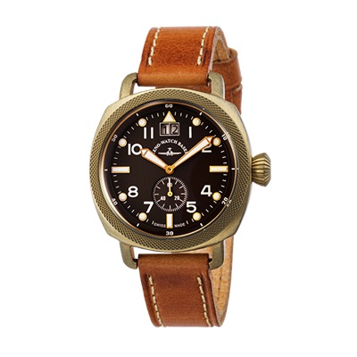 ZENO-WATCH(ゼノウォッチ) Quartz Bronze Cushion 201-2-BR-CM